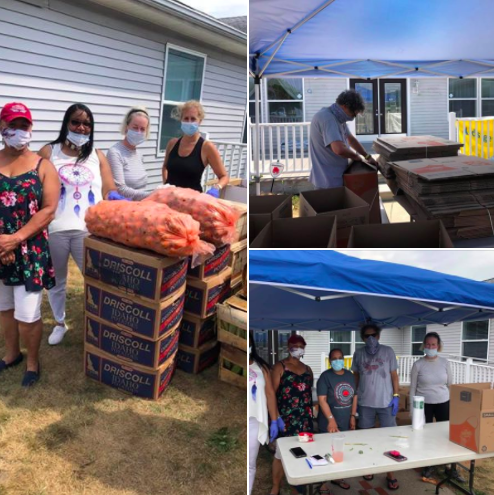 FB: TAI Social Justice Committee packed fresh farm vegetables for the members of the Shinnecock Nation